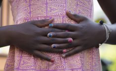 Black Girl Hand and Abdomen