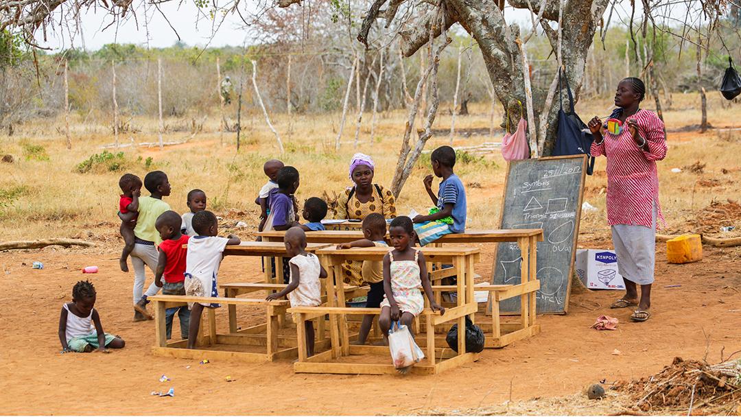 Kenya school children